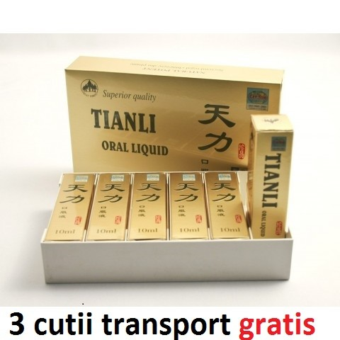 Tianli Ultra Power Original 6 fiole cu capac auriu